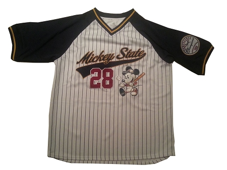 Disney Baseball Jersey for Adults - Mickey Mouse - Mickey State 28