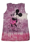 Disney Shirt for Women - Mickey Mouse Tie Dye Tank - Pink & Purple