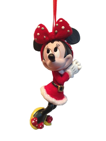 disney christmas ornament retro santa minnie mouse