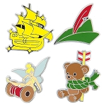 Disney Pin Booster Set - Peter Pan Flair - 4 Pins