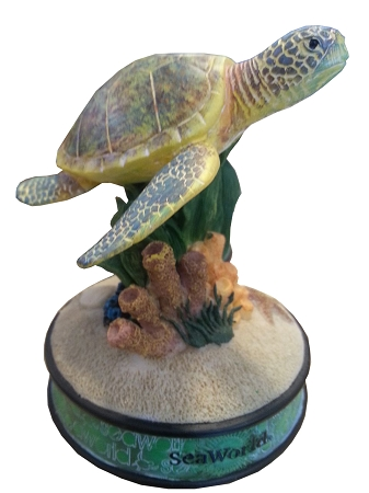 Sea World Figurine - Sea Turtle - Coral Reef