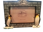 Sea World Photo Frame - Penguin Blue Frame Logo - 4 x 6