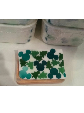 Disney Basin Fresh Cut Soap - Mickey - Mickey Icons & Trees