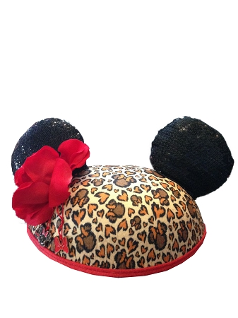Disney Hat - Ears Hat - Cheetah Minnie Mouse - Sequined - Youth 6b0d9a984d6d