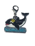 Sea World Dangle Charm - Shamu Sea World Logo