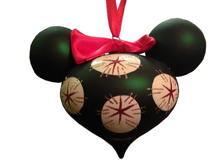 Disney Mickey Ears Icon Ornament - Minnie Mouse Retro - Green