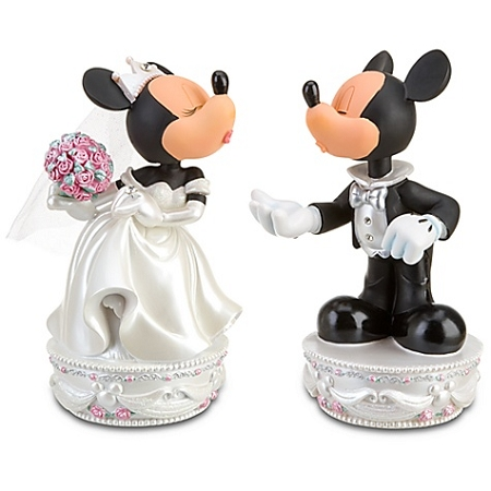 Disney Bobblehead Figure - Wedding Minnie and Mickey Mouse Set -- 2-Pc.