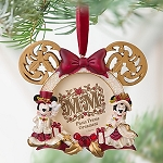 Disney Photo Frame Ornament - Victorian Minnie and Mickey Mouse