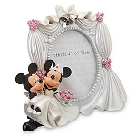 Disney Photo Frame - Sculpted Wedding Minnie and Mickey Mouse Frame