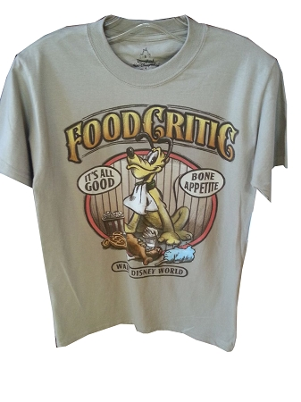Disney Shirt for Adults - Pluto Food Critic Tee - Tan