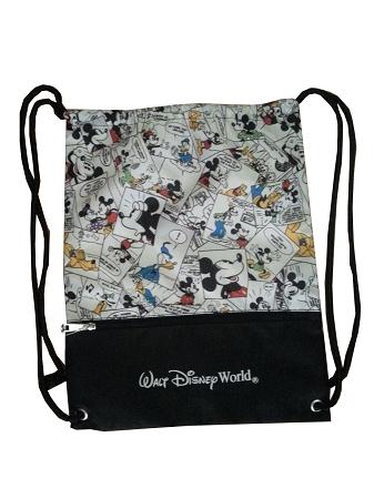 Disney Cinch Bag Comic Strip Mickey Mouse