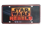 Disney License Plate - Star Wars Weekends 2014 - Star Wars Rebels
