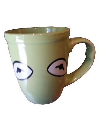 Disney Coffee Mug - Kermit the Frog Eyes - Muppets - Green
