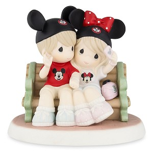 Disney Precious Moments Figurine - Mouseketeers on Park Bench