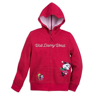 Disney Zip Hoodie for Girls - Minnie Mouse Holiday - Walt Disney World