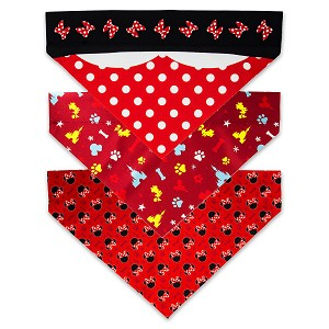 Disney Dog Bandana Set - Minnie Mouse - Set of 3