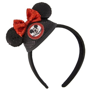 Disney Ear Hat Headband - Mickey Mouse Club - Minnie Mouse Sequined