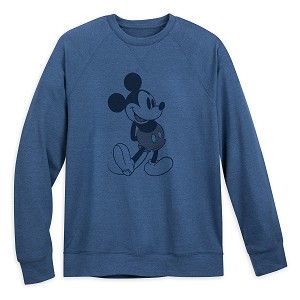 Disney Adult Sweatshirt - Classic Mickey Mouse Raglan - Blue
