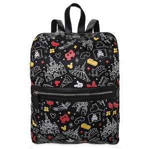 Disney Backpack Bag - Mickey and Minnie Mouse Parks - Black