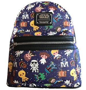 Disney Loungefly Backpack - Star Wars Cuties - Blue