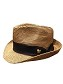 Disney Hat - Fedora Hat - Mickey Mouse Band - Brown Wicker