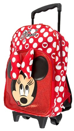 Disney Rolling Backpack Minnie Mouse Polka Dot