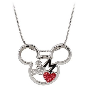Disney Arribas Necklace - Red Heart Mickey Mouse