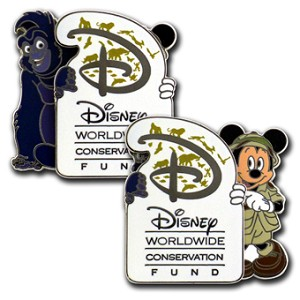Disney Pin- Disney Worldwide Conservation Fund - Mickey Mouse and Terk Pin
