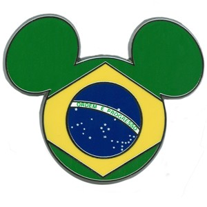 Disney Mickey Mouse Icon Pin - Brazilian Flag