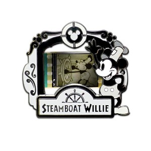 Disney Piece of Movie Pin - Steamboat Willie - Limited Edition