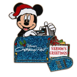 Disney Season Greetings Pin - 2012 Contemporary Resort - LE