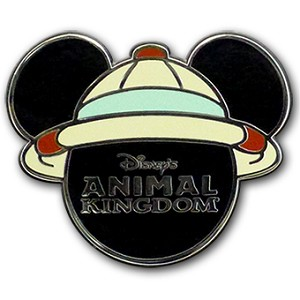 Disney Animal Kingdom Pin - Mickey Icon with Helmet