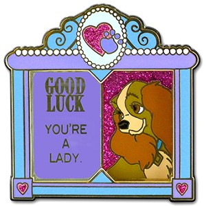 Disney Good Luck, Bad Luck Pin - March - Lady - Limited Edition