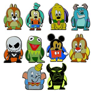 Disney Mystery Pin Set - Vinylmation Popcorns - 2 Random