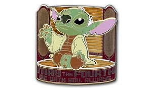 Disney Star Wars Pin - May the Fourth - Stitch Jedi Master Yoda - LE