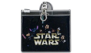 Disney Pin Lanyard ID Pouch - Star War Weekends - Mickey Mouse