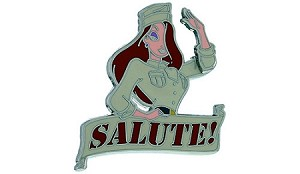 Disney Jessica Rabbit Pin - Jessica Salute
