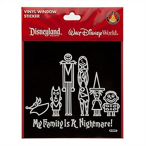 Disney Window Cling - Tim Burton's The Nightmare Before Christmas - Window Decal