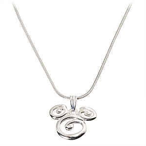 Disney Necklace - Sterling Silver Swirl Mickey Mouse