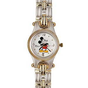 Disney Wrist Watch - Classic Mickey Mouse with Interchangeable Bands for Women
