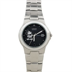 Disney Wrist Watch - Citizen Eco-Drive - Stainless Steel Mickey Mouse for Men