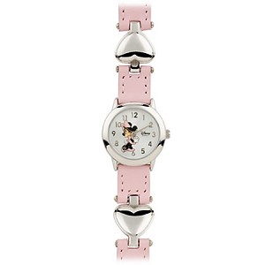 Disney Wrist Watch for Girls - Minnie Mouse Hearts - Pink
