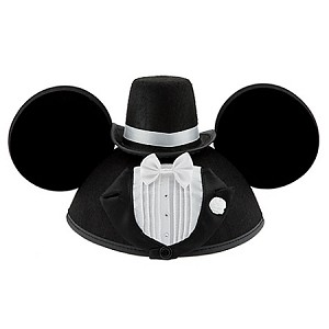 Disney Hat - Ears Hat - Personalized Tuxedo Mickey Mouse - Groom