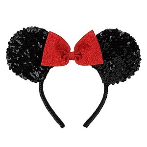 Disney Headband Hat - Sequined Minnie Mouse - Black