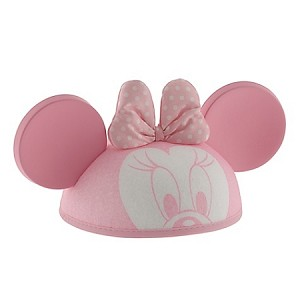 Disney Hat - Ears Hat - Minnie Mouse with Bow -- Pink