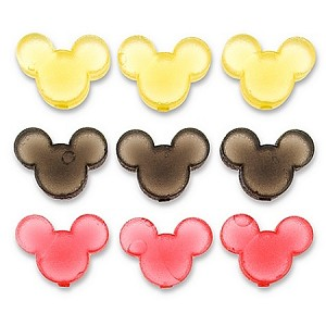 Disney Ice Cube Set - Reuseable Mickey Mouse - Red, Yellow, Black