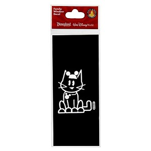 Disney Window Decal - Family Cat with Mickey Mouse Eat Hat