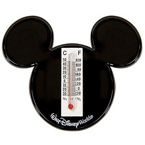 Disney Thermometer - Magnetic Walt Disney World Mickey Mouse