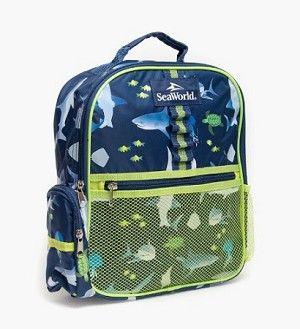 Sea World Backpack Bag - Shark Print - Seaworld