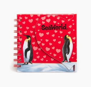 Sea World Journal Notebook - Penguins and Hearts - Spiral
